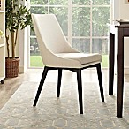Modway Viscount Fabric Dining Chair in Beige