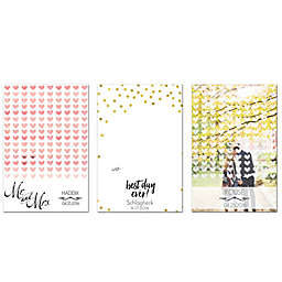 Watercolor Love Guest Book Canvas Wall Art