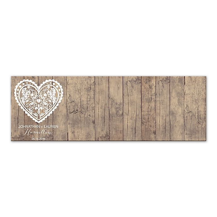 rustic heart guest book 60 inch x 20 inch canvas wall art bed bath beyond. Black Bedroom Furniture Sets. Home Design Ideas