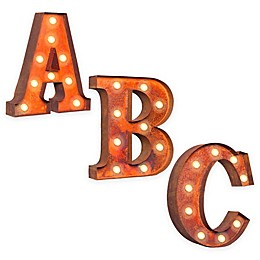 Vintage Retro Lights & Signs Metal Letter Light-Up Wall Art Collection