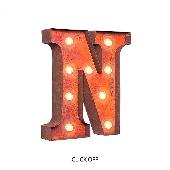 Alternate image 1 for Vintage Retro Lights & Signs Metal Letter \