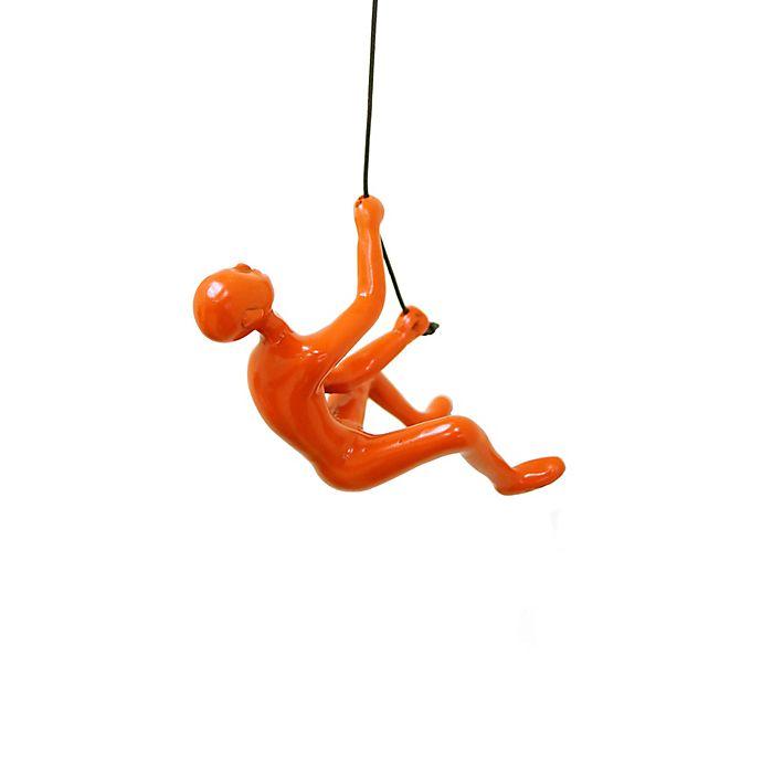 Alternate image 1 for Climbing Man Wall Art in Orange