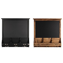 Kate and Laurel Stallard Chalkboard Wall Organizer with Hooks