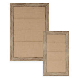 Beatrice Framed Burlap Pockets in Brown