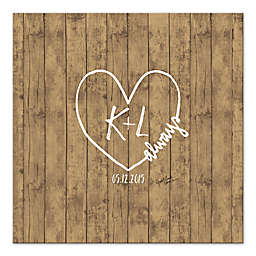 Rustic Love Guest Book 36-Inch Canvas Wall Art
