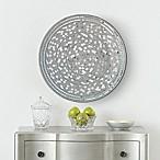 Mosaic 24-Inch Disc Wall Art in Silver