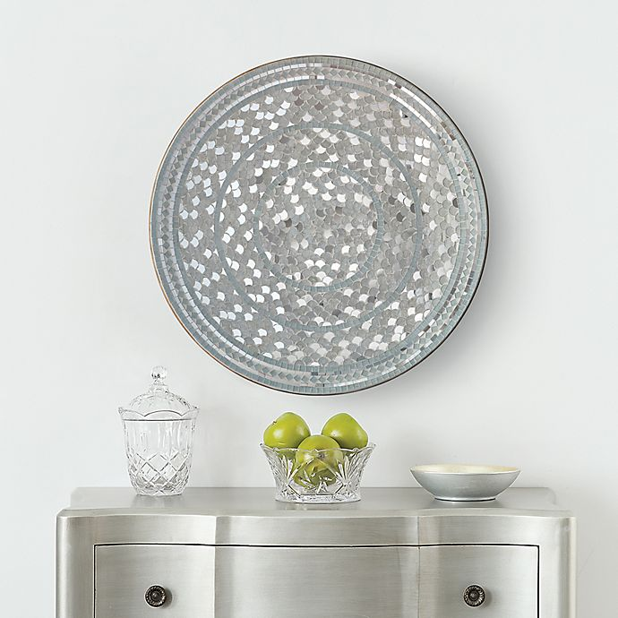 Mosaic 24 Inch Disc Wall Art In Silver Bed Bath Beyond