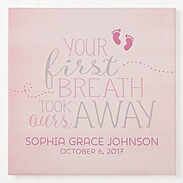 You Took Our Breath Away Personalized Canvas Print Collection