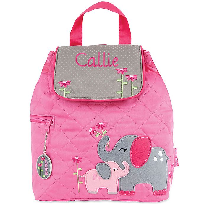Alternate image 1 for Stephen Joseph® Elephant Quilted Backpack in Pink