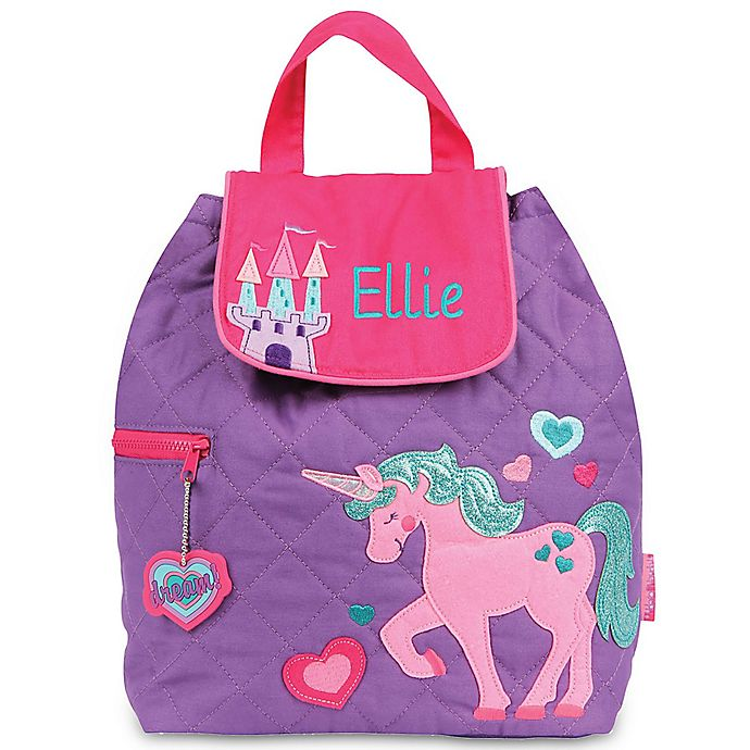 Alternate image 1 for Stephen Joseph® Unicorn Quilted Backpack in Purple