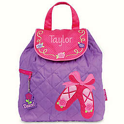 Stephen Joseph® Ballet Shoes Quilted Backpack in Purple