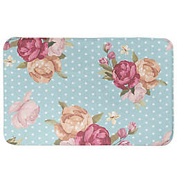 Designs Direct 34-Inch x 21-Inch Floral Dot Bath Mat