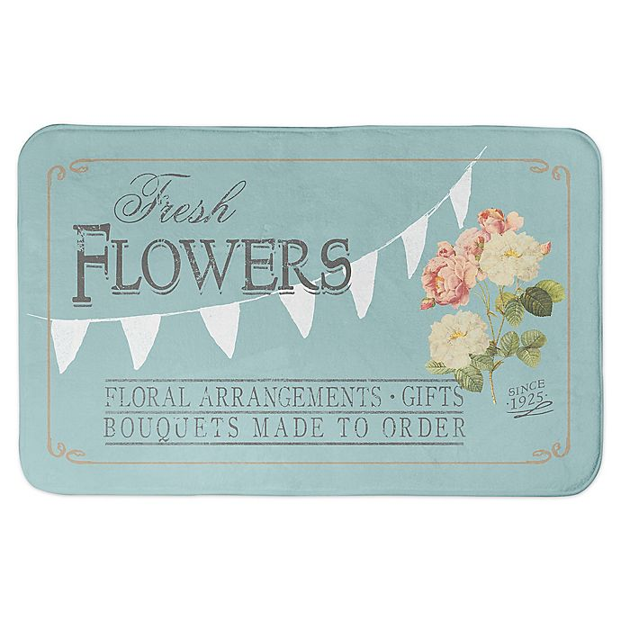 Alternate image 1 for Designs Direct 34-Inch x 21-Inch Fresh Flowers Bath Mat