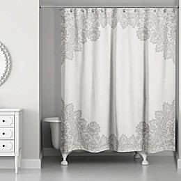 Designs Direct Brown Lace Shower Curtain