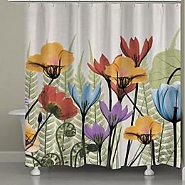 Laural Home Flowers and Ferns Shower Curtain