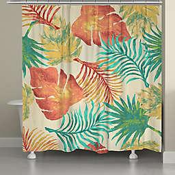 Laural Home® Tropical Havana Palm Leaves Shower Curtain