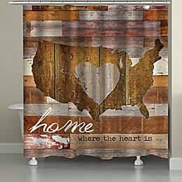 Laural Home® Land That I Love Shower Curtain