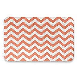 Designs Direct 34-Inch x 21-Inch Chevron Bath Mat in Orange