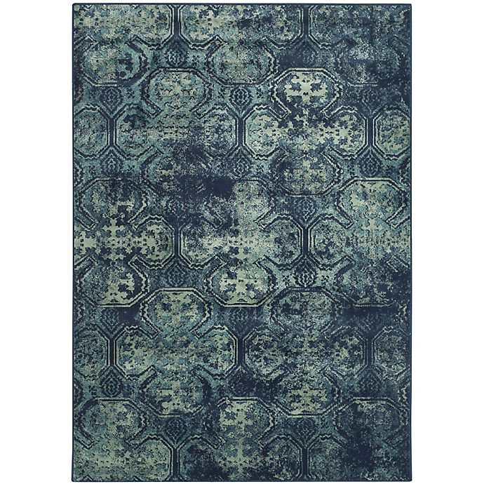 Alternate image 1 for Safavieh Vintage Diana 3-Foot 3-Inch x 5-Foot 7-Inch Area Rug in Navy
