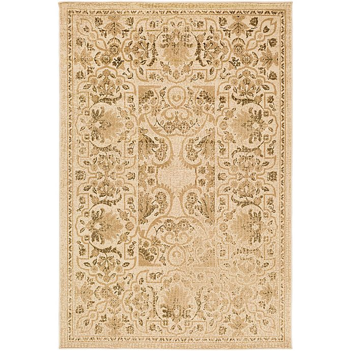 Alternate image 1 for Surya Peroz Classic Botanical Border 6-Foot 7-Inch x 9-Foot 6-Inch Area Rug in Beige