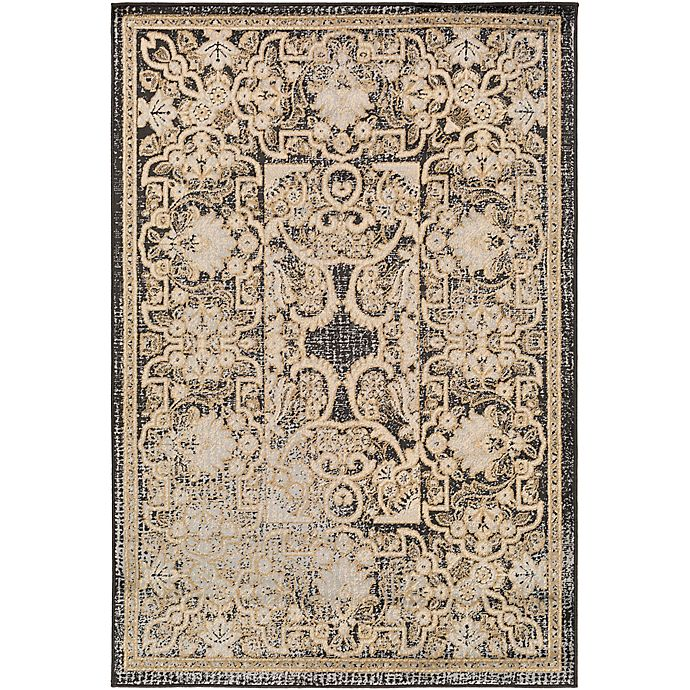 Alternate image 1 for Surya Peroz Classic Botanical Border 8-Foot 10-Inch x 12-Foot 9-Inch Area Rug in Black