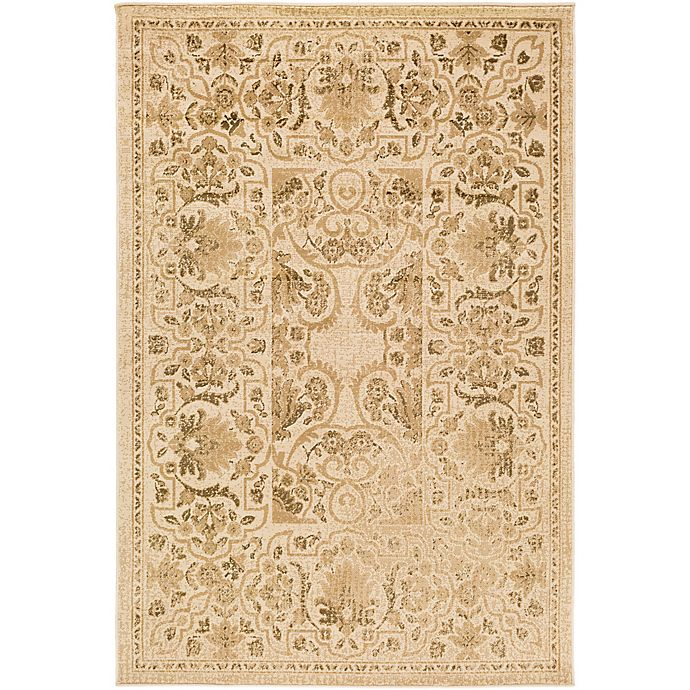 Alternate image 1 for Surya Peroz Classic Botanical Border 8-Foot 10-Inch x 12-Foot 9-Inch Area Rug in Beige