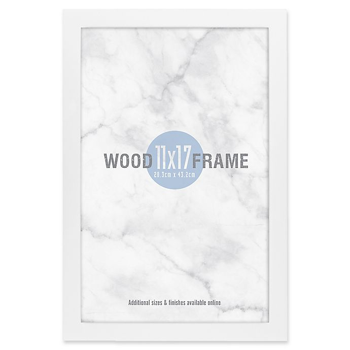 Alternate image 1 for Gallery 11-Inch x 17-Inch Wood Frame in White