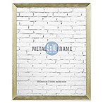 Gallery 8-Inch x 10-Inch Brushed Metal Frame in Gold