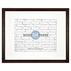 Gallery 11-Inch x 14-Inch Matted Wood Frame in Espresso
