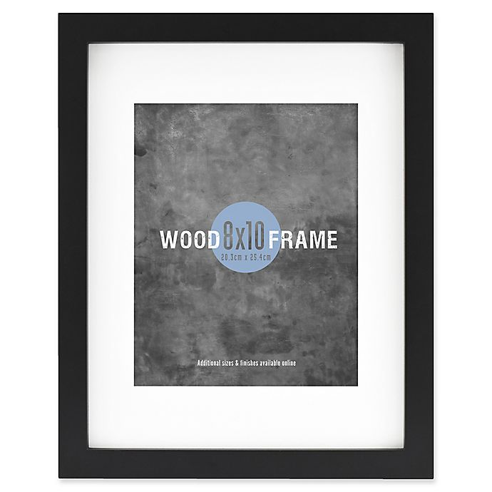 Alternate image 1 for Gallery 8-Inch x 10-Inch Matted Wood Frame in Black