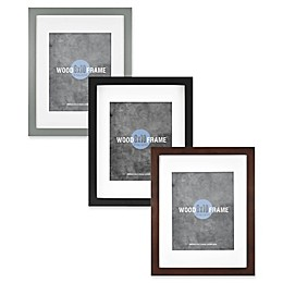 Gallery 8-Inch x 10-Inch Matted Wood Frame