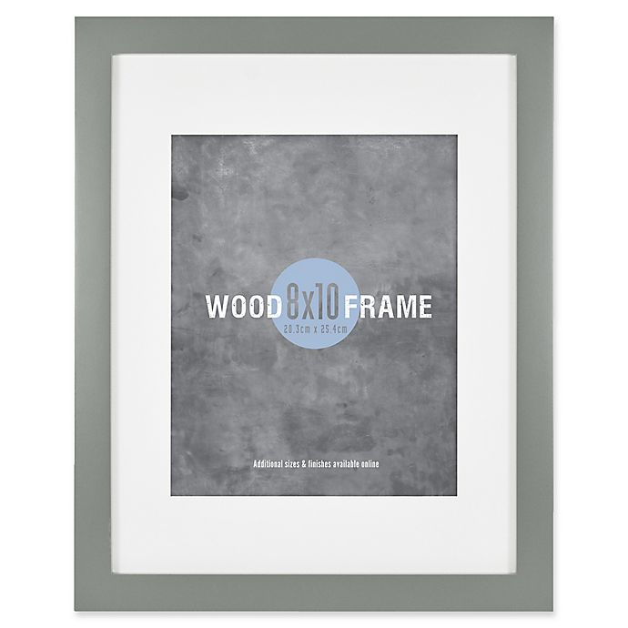 Alternate image 1 for Gallery 8-Inch x 10-Inch Matted Wood Frame in Grey