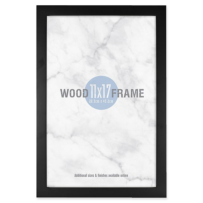 Alternate image 1 for Gallery 11-Inch x 17-Inch Wood Frame in Black