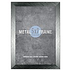 Gallery 5-Inch x 7-Inch Brushed Metal Frame in Gunmetal