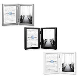 Gallery 5-Inch x 7-Inch 2-Opening Hinged Double Frame