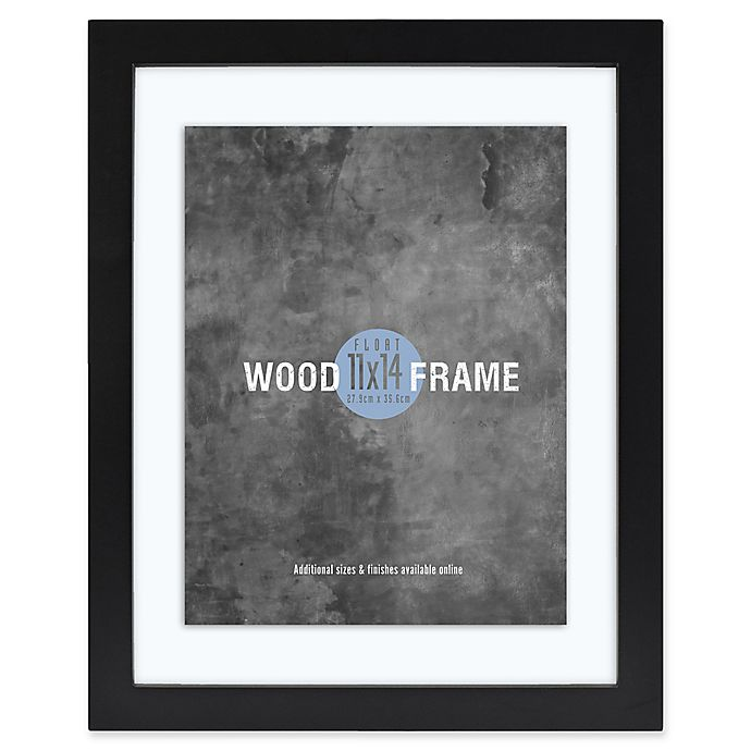 Alternate image 1 for Gallery 11-Inch x 14-Inch Float Frame in Black