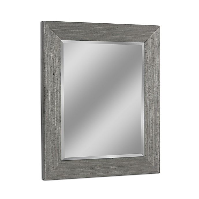 Alternate image 1 for Head West Rustic Box Driftwood  29-Inch x 35-Inch Wall Mirror in Light Grey
