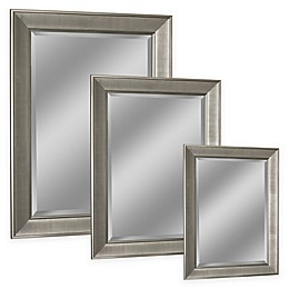 Head West Pave Wall Mirror in Brushed Nickel