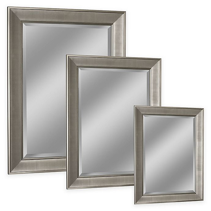 Head West Pave Wall Mirror In Brushed Nickel Bed Bath Beyond