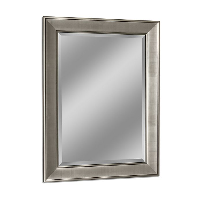 Head West Pave Wall Mirror In Brushed, Decorative Wall Mirrors Bed Bath And Beyond