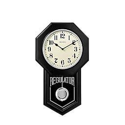 Bulova Ebony Traditional SchoolMaster Wall Clock in Black