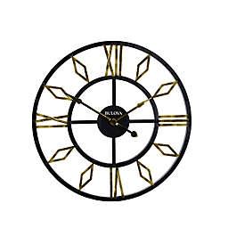 Bulova Diamond Gallery Wall Clock in Black