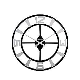 Bulova Gotham Wall Clock in Black