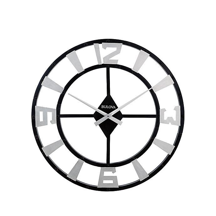 Alternate image 1 for Bulova 36-Inch Gotham Wall Clock in Black