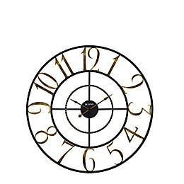 Bulova Colossus Wall Clock in Black