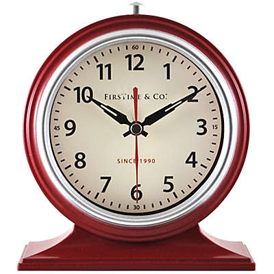 FirsTime® Colorfully Awake Tabletop Clock in Red