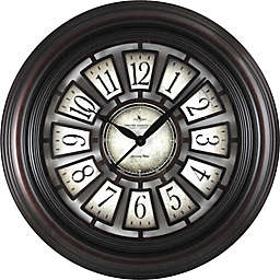 FirsTime® Majestic Hollow Wall Clock in Espresso