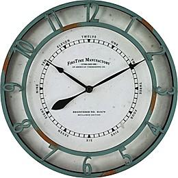 FirsTime® Timeworn Wall Clock in Aqua