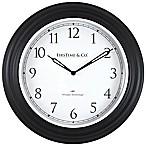 FirsTime® Richmond Whisper Wall Clock in Black