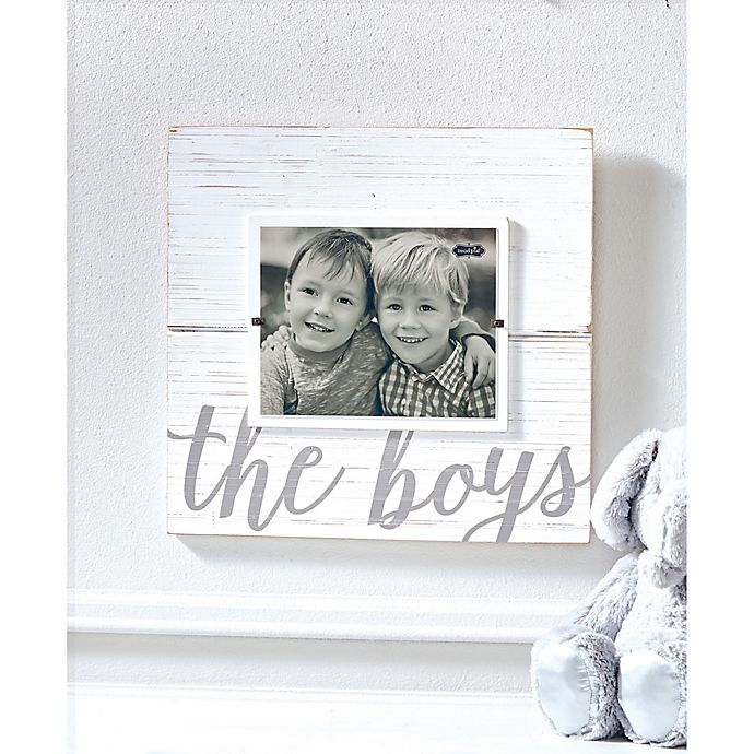 Mud Pie The Boys 8-Inch x 10-Inch Picture Frame in White | Bed Bath ...